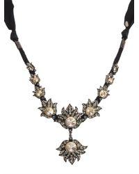 Lanvin - Black Blanche Crystal Necklace - Lyst