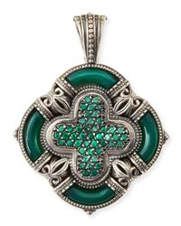 Konstantino | Ismene Clover Pendant With Green Agate | Lyst