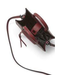 Rebecca Minkoff Red M.A.B. Mini Leather Tote