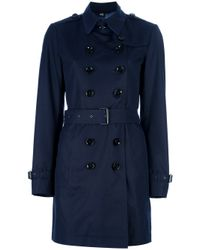 Burberry Brit | Blue Crombrook Trench Coat | Lyst