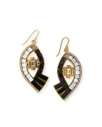 Lulu Frost | Black Lumen Mosaic Eye Drop Earrings | Lyst