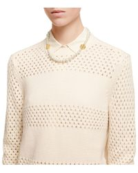 Tory Burch - White Evie Short Necklace - Lyst