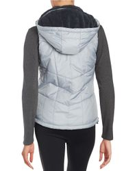 New Balance | Metallic Quilted Puffer Vest | Lyst