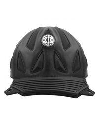 KTZ - Black New Era Leather Biker Cap for Men - Lyst