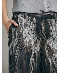 Free People - Black Printed Wideleg Pant - Lyst