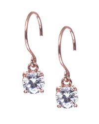 Anne Klein | Blue Rose Goldtone And Cubic Zirconia Drop Earrings | Lyst