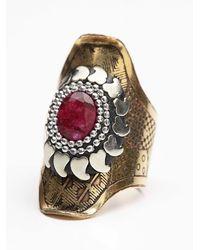Free People - Metallic Womens Radial Stone Ring - Lyst