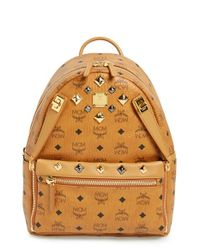 MCM | Orange 'small Dual Stark' Backpack | Lyst
