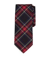 Brooks Brothers - Black Tartan Tie for Men - Lyst