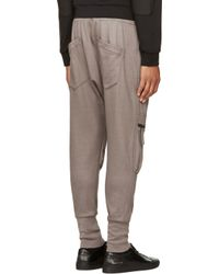 Helmut Lang Gray Ribbed Lounge Pants for men