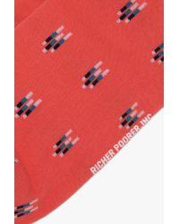 7 For All Mankind Orange Richer Poorer Big Sky Socks for men