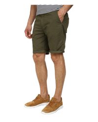 Scotch & Soda Green Pima Cotton Chino Shorts for men