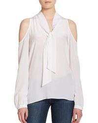 Bailey 44 - White Bianca Cold-shoulder Top - Lyst