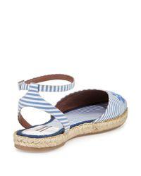 Tabitha Simmons - Blue Dotty Striped-Cotton Espadrilles  - Lyst