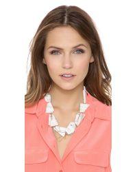 Gemma Redux White Stone Drip Chain Collar Necklace