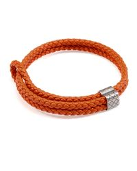 Bottega Veneta - Red Men's Woven Leather Bracelet - Lyst