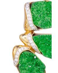 Kara Ross - Green Mosaic Raw Blue Topaz Earrings - Lyst