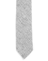 TOPMAN Gray Grey Textured Slim Tie for men