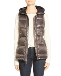 Vince Camuto | Brown Lightweight Down Vest | Lyst