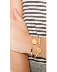 kate spade new york | Metallic Charm Letter Bangle Bracelet | Lyst