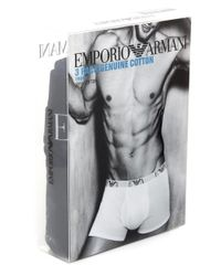 Emporio Armani - Black Three Pack Of Boxers for Men - Lyst