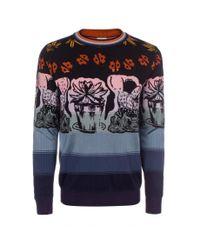 Paul Smith - Multicolor Multi-Colour Wild Art Jacquard Sweater for Men - Lyst