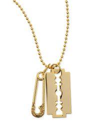 McQ | Metallic Razor Pendant Necklace for Men | Lyst