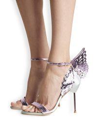 Sophia Webster Purple Evangeline Winged Leather Pumps