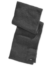 Michael Kors | Gray Michael Half Cardigan Stitch Muffler Scarf for Men | Lyst