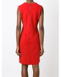Lanvin - Red Sleeveless Wool-Blend Dress - Lyst