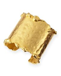 Devon Leigh - Metallic 18-karat Yellow Gold Dipped Cuff - Lyst