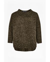 French Connection | Brown Rsvp Now High Neck Knit | Lyst