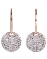 Monica Vinader - Metallic Rose Gold Vermeil Diamond Ava Drop Earrings - Lyst