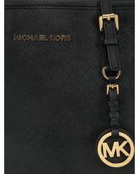 MICHAEL Michael Kors - Black Small Jet Set Travel Saffiano Tote Bag - Lyst
