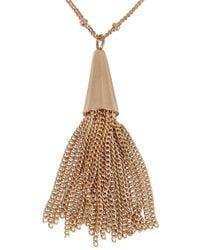 Eddie Borgo - Pink Rose Gold Plated Chain Tassle Necklace - Lyst
