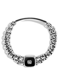 David Yurman Metallic Exotic Stone Wide Id Bracelet with Black Onyx for men