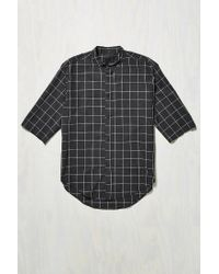 Assembly | Blue Noncollar Button-down Shirt for Men | Lyst