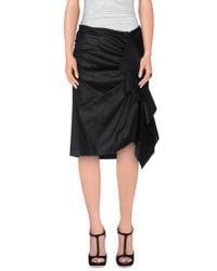 Dries Van Noten - Black 3/4 Length Skirt - Lyst