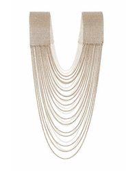 TOPSHOP | Metallic Drape Pearl Body Chain | Lyst