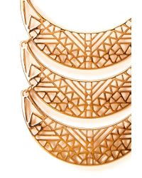 Forever 21 | Metallic Cutout Craze Scalloped Bib Necklace | Lyst