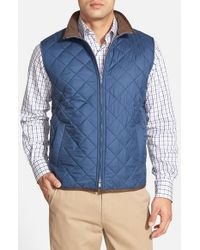 Peter Millar | Blue 'potomac' Water Resistant Quilted Full Zip Vest for Men | Lyst