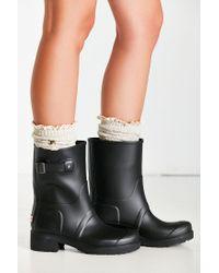 HUNTER Black Original Ankle Boot