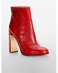 Calvin Klein | Red White Label Karlia High Heel Bootie | Lyst