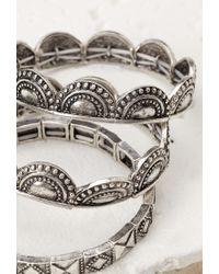 Forever 21 - Metallic Tribal-inspired Bracelet Set - Lyst