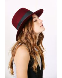 Urban Outfitters | Red Sadie High Crown Felt Hat | Lyst