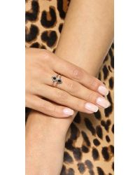Samantha Wills - Pink Eye Of The Tiger Ring - Rose Gold/Onyx - Lyst