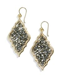 Panacea | Metallic Beaded Chandelier Earrings - Hematite | Lyst