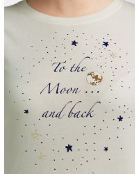 John Lewis Blue To The Moon And Back Pyjama Set