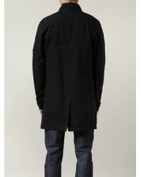 Stone Island - Black Cotton-Blend Trench Coat for Men - Lyst