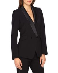 Catherine Malandrino | Black 'stephen' Double Breasted Tuxedo Jacket | Lyst